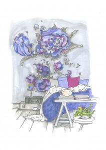 Beispiel aus Pocket-Feng-Shui-Buch Schlafzimmer