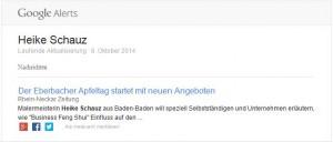 Google Alert - Heike Schauz