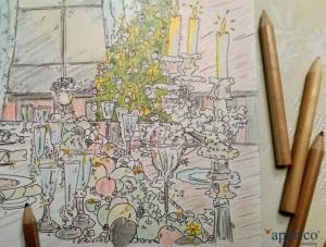 Weihnachtskarte apprico 2015